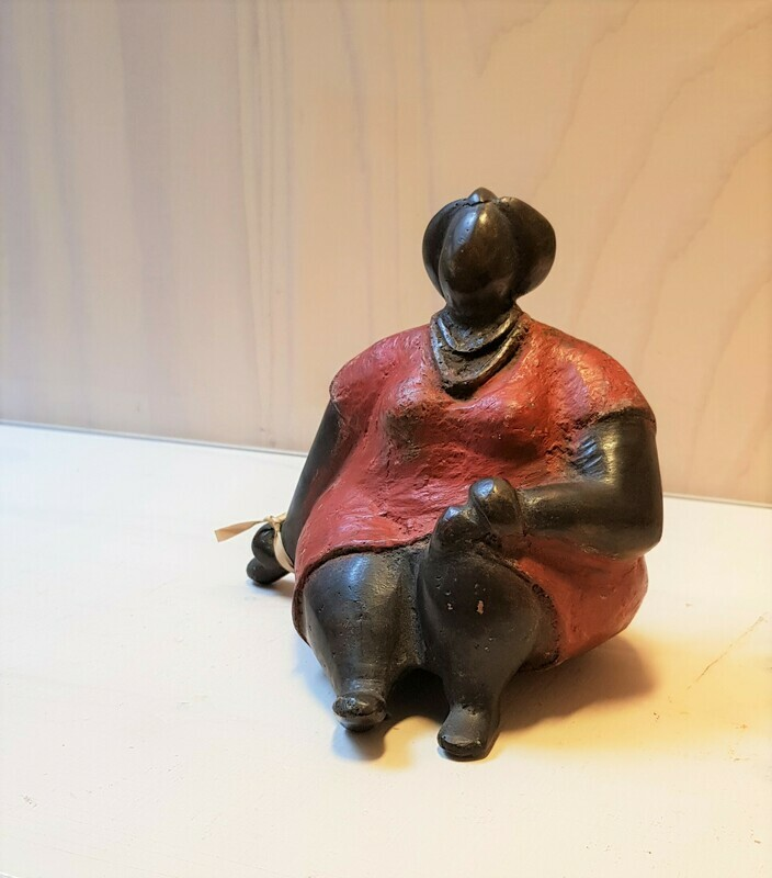 Bronzen beeld dame
