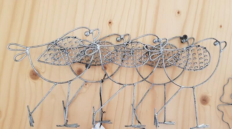 Metalen muurdecoratie met vogels