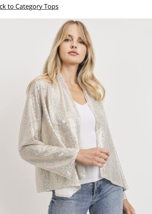 Snow Sparkle Sequin Blazer