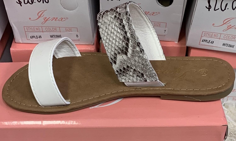 White Snake Sandal