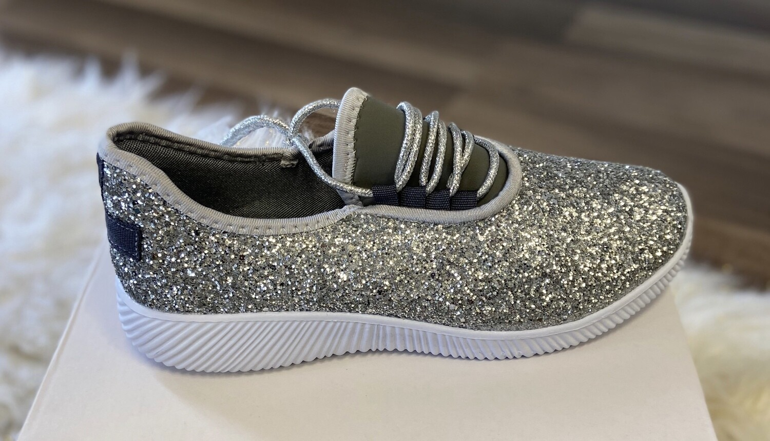 Silver Sparkle Sneakers