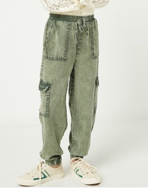 Olive Mineral Cargo Joggers