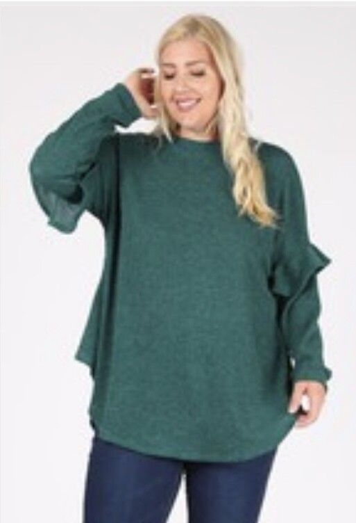 Can't Wait Teal Green Top