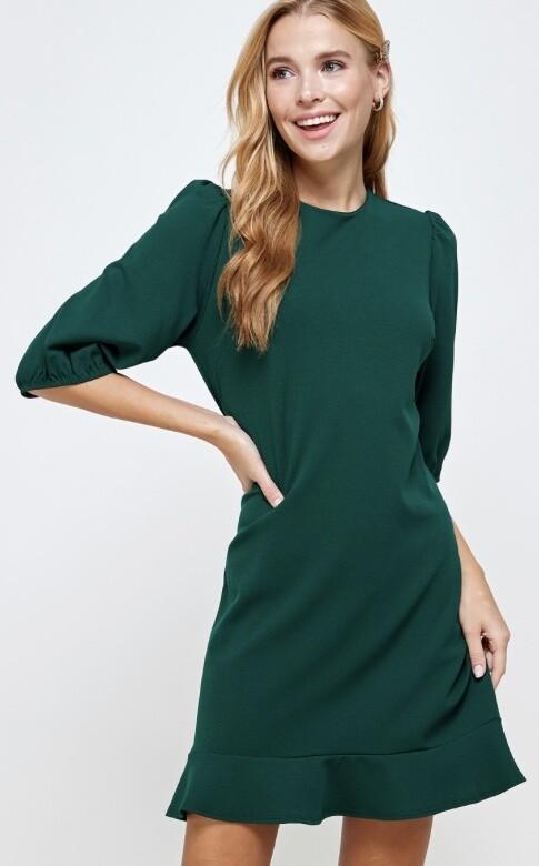 Basic Huntergreen Dress