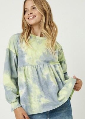 LL Mint Tye Dye Top