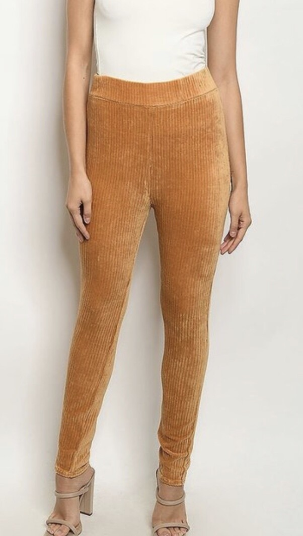 Mustard Cord Leggings