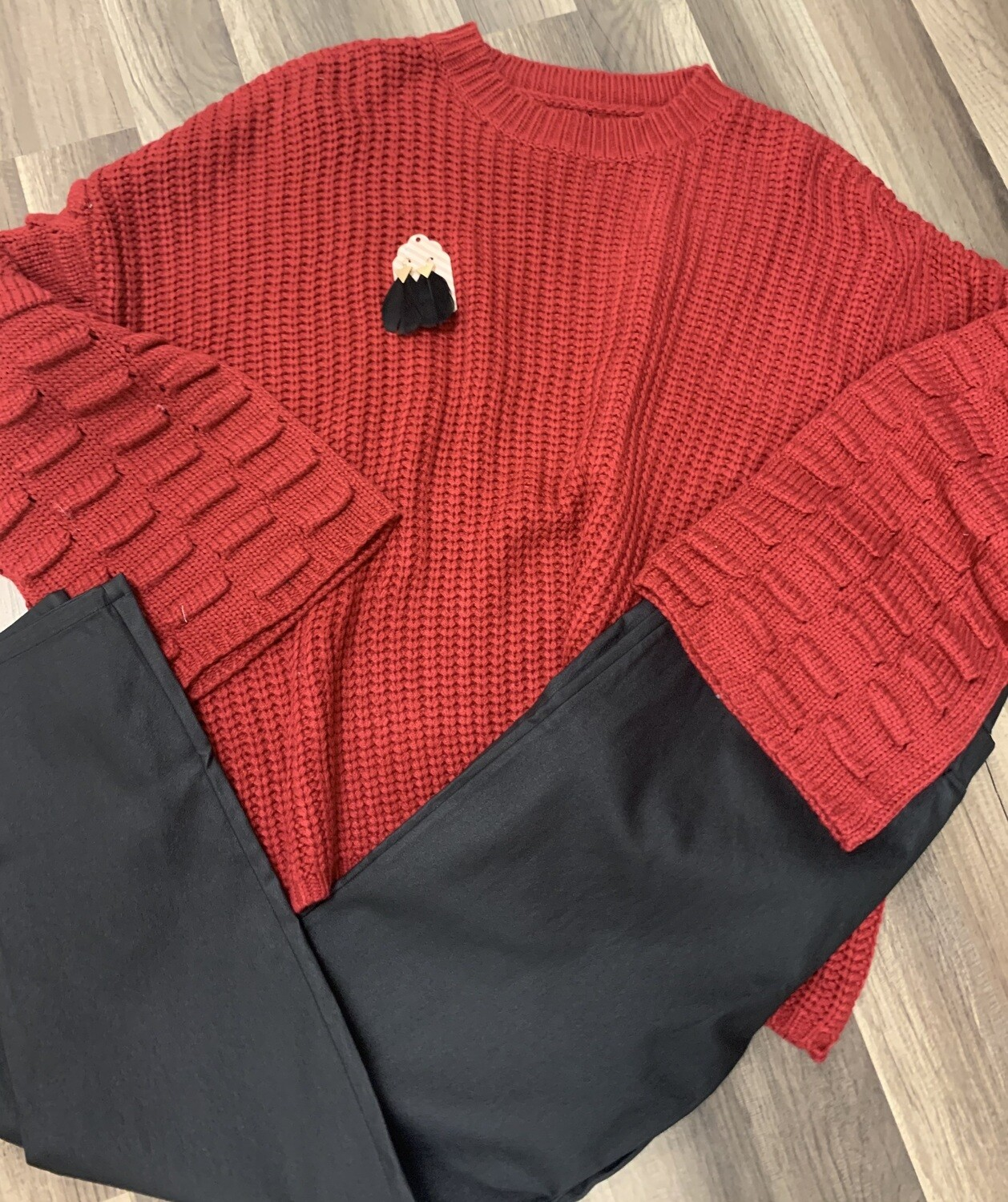 Cranberry Chunky Sweater
