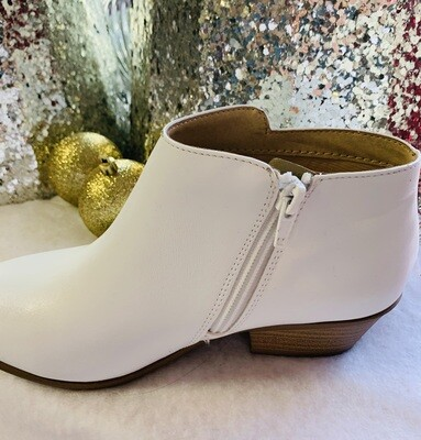 White Crop Booties
