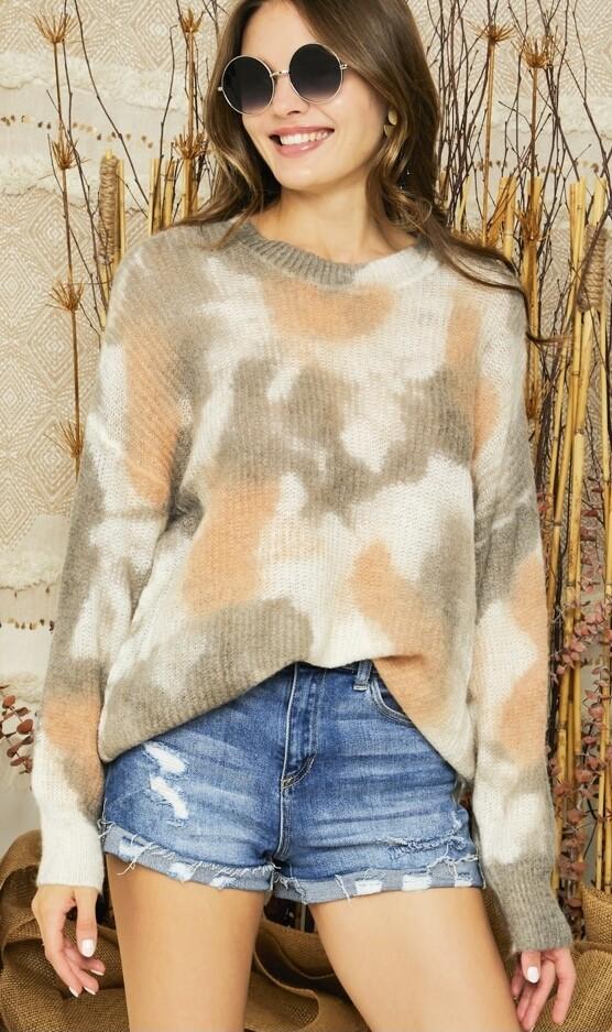 Rust Mix Tie Dye Sweater