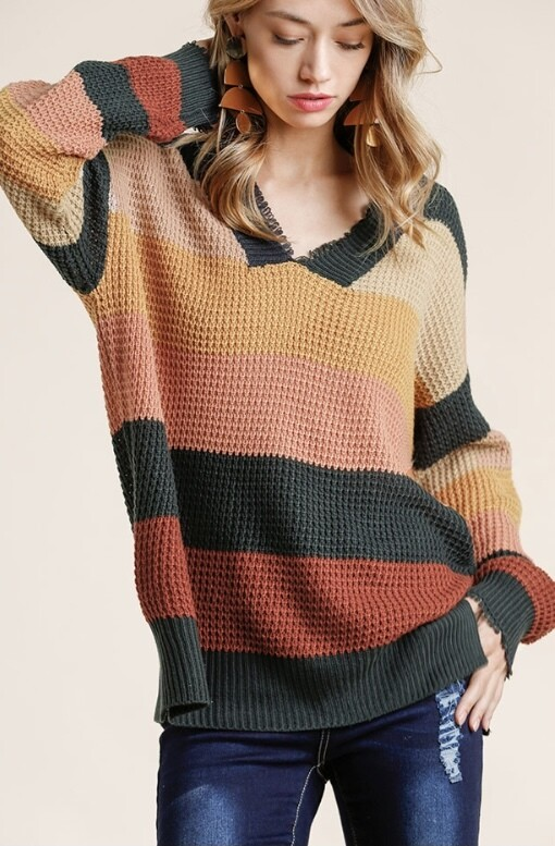 Coral Mix Sweater