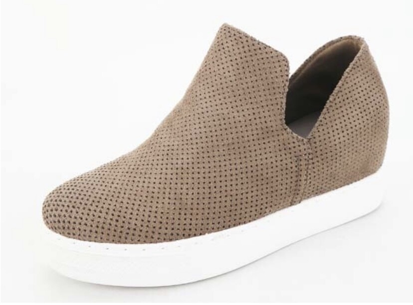 Taupe Slip On Sneaker