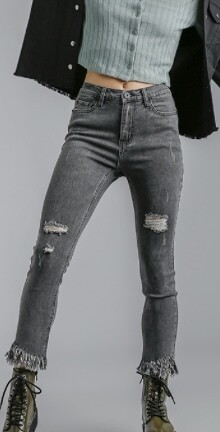 Flirt with Me Frayed Jeans