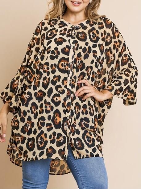 Wild Child Leopard Oversized Top