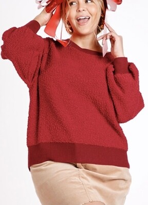 Ruby Red Pullover Top