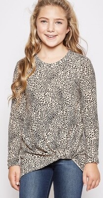 Cheetah Twist Top