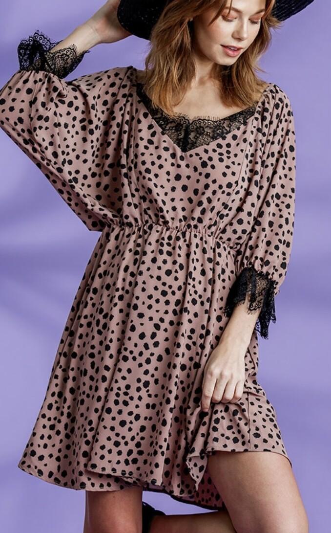 Sweetheart Leopard Dress