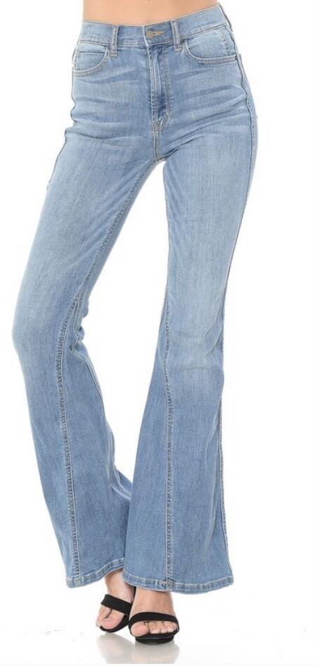 Mid Rise Wash Subtle Flare Jean