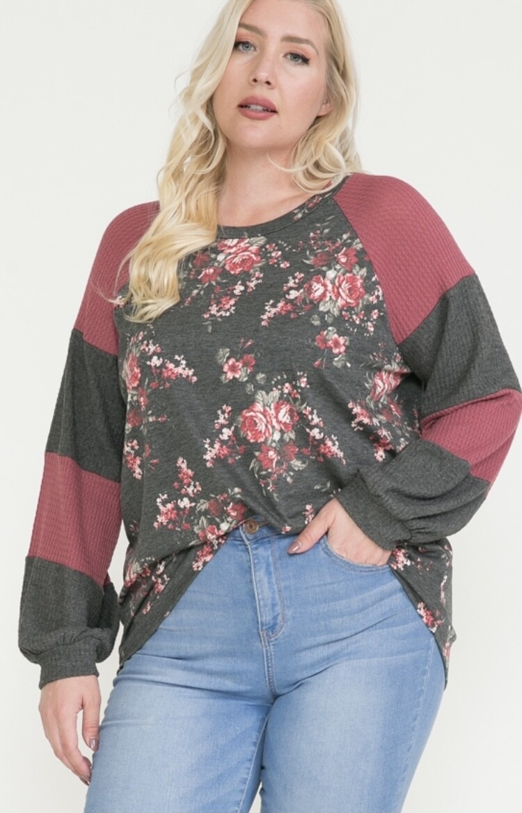 Florals and Wine Top