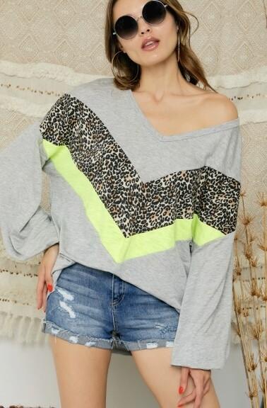 Neon Leopard Top