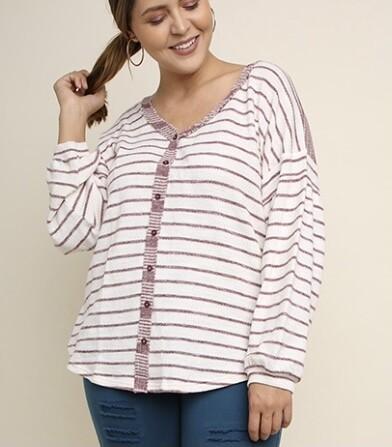 Sweetheart Stripe Top