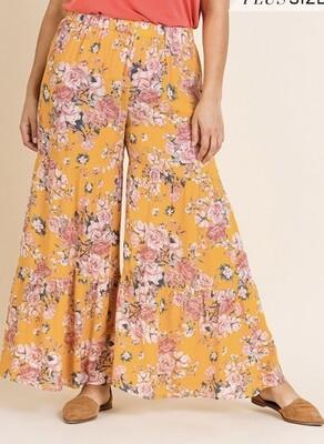 Sunshine Floral Tier Pants