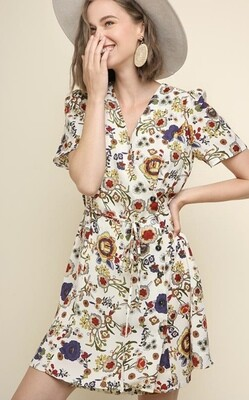 Posh Floral Dress