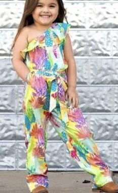 Summer Palm Jumpsuit