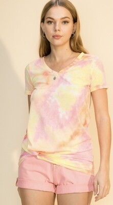 Pink Lemonade Tie Dye Top