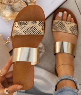 Gold Snake Sandals