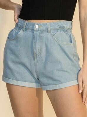 Denim Rolled Shorts