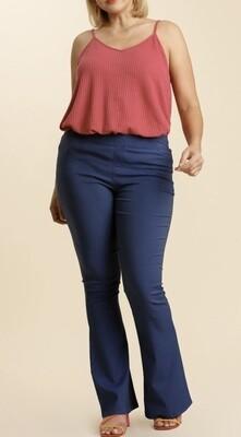 Denim Flared Trousers