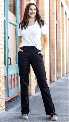 Black Relaxed Linen Pants