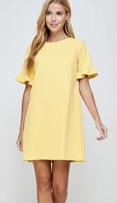 Mellow Yellow Shift Dress