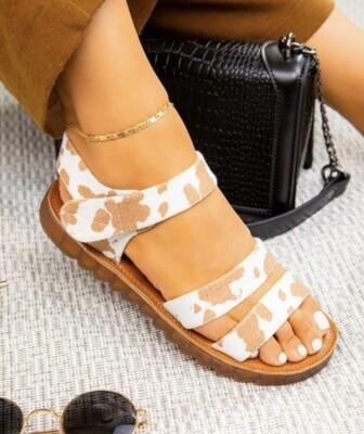 Tan Cow Sandal