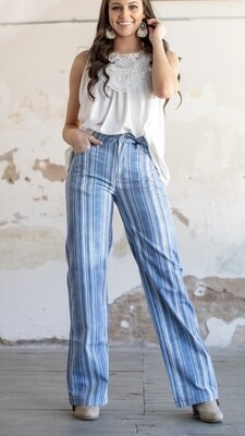 Denim Stripe Trousers