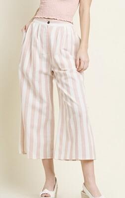 Blush Linen Stripe Pants