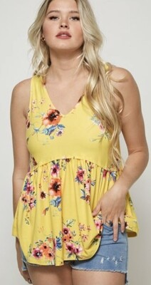 Sunshine Floral Top