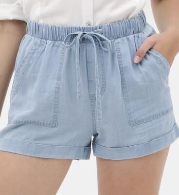 Light Denim Tencel Shorts