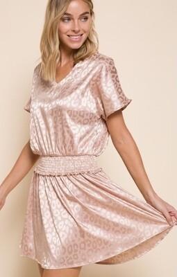 Champagne Animal Print Dress
