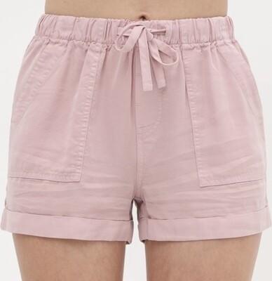 Mauve Tencel Shorts