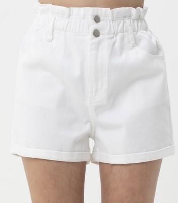 Brittany White High Waist Shorts