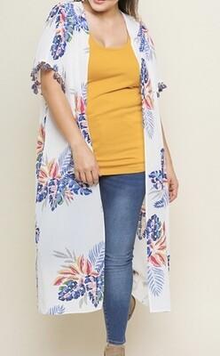 Flirts of Floral Duster Kimono