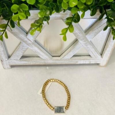 Gray Statement Bracelet
