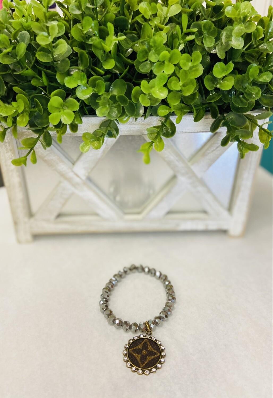 Gray Crystal Designer Inspired Bracelet