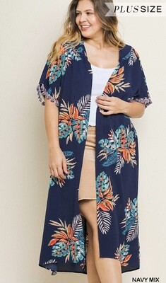 Navy Palms Duster