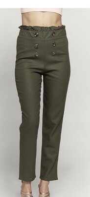 Hey There Olive Linen Pants