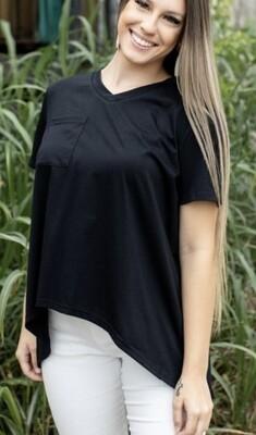 Carley Black Pocket Top