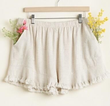 Just Natural Linen Shorts