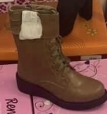 Khaki Combat Boots