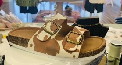 Cow Happy Birk Style Sandals